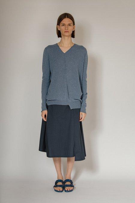 OYUNA Karai Woven Panel Skirt - Deep Ocean