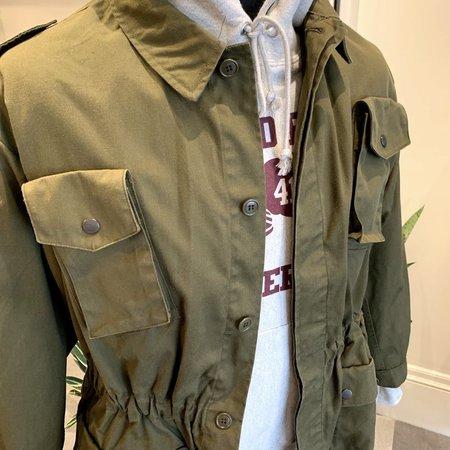 Vintage Deadstock Italian Military Field Coat - olive drab
