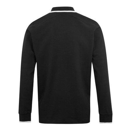 Ma Strum Tipped LS Polo Shirt - Black