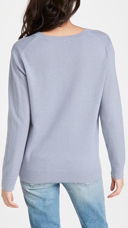 Vince Weekend V-Neck Sweater - Piero Blue