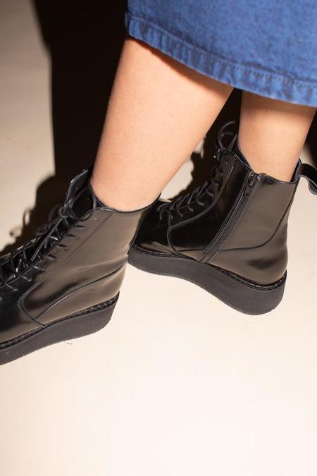 Rachel Comey Halt Boot - Black Patent