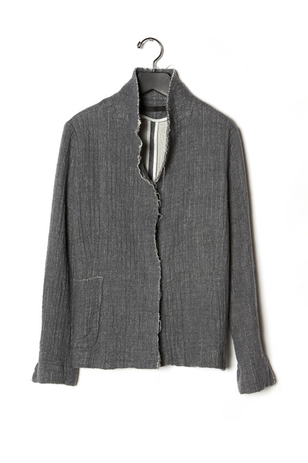 KES Felted Wool Raw Edge Skinny Jacket