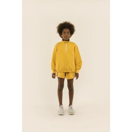 Kids Tinycottons Small Flowers Mockneck Sweatshirt - Yellow/Honey