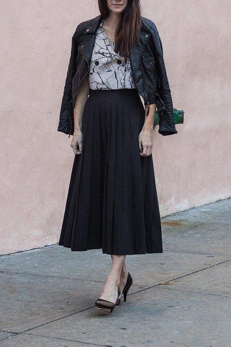 Suzanne Rae Pleated Skirt - Black