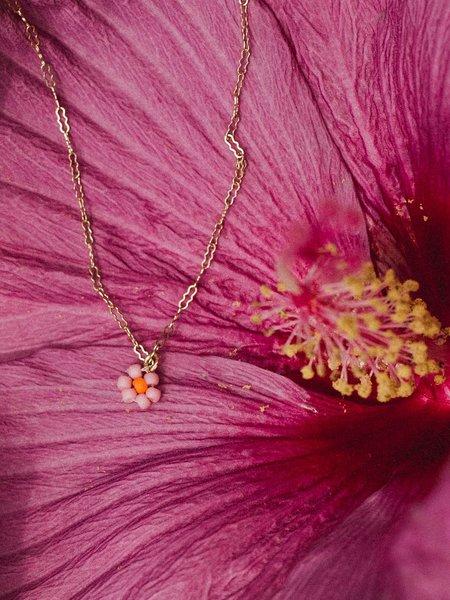 Gilbert Beaded Flower Necklace