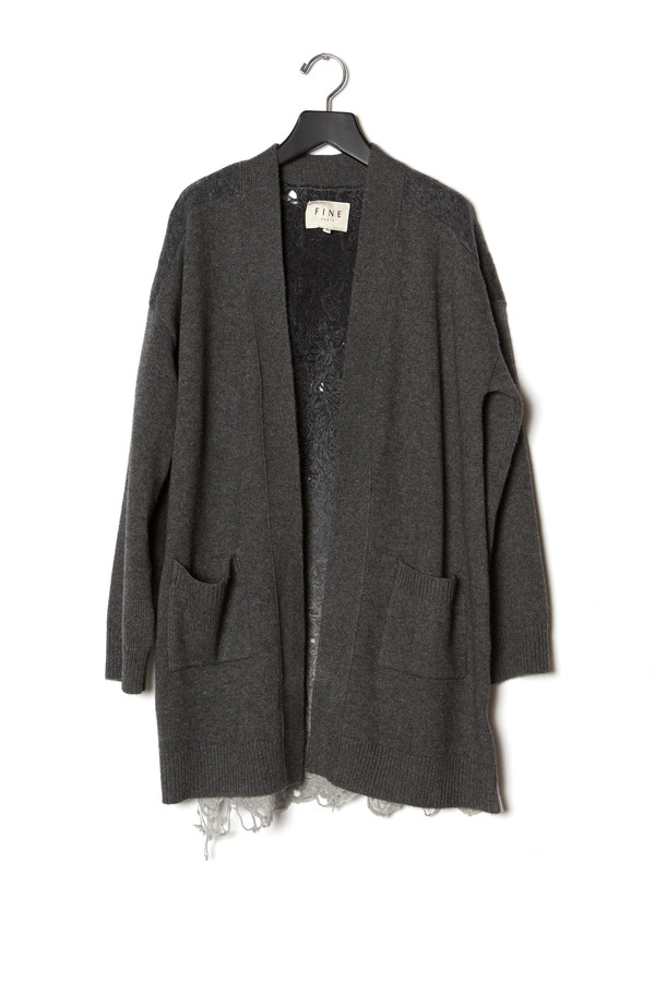 Fine Collection Ombre Back Cardigan
