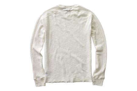 RRL Textured Crewneck - Paper White