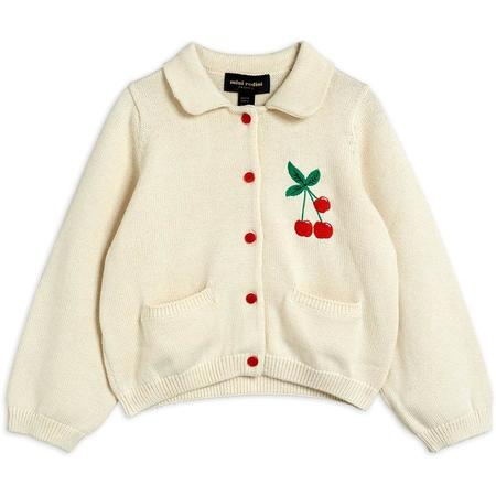 kids mini rodini cherry cardigan - offwhite