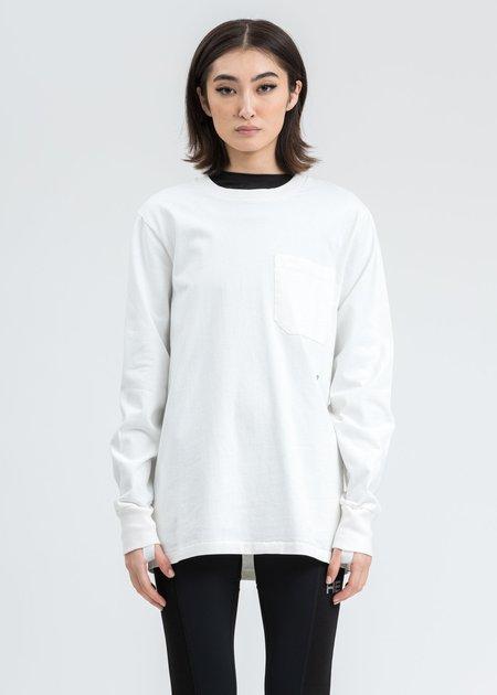 Helmut Lang Sleeve Strap Long Sleeve T-Shirt - Ecru