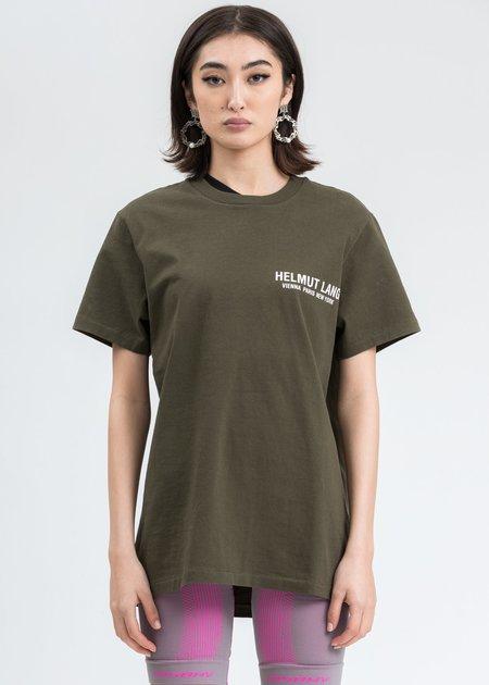 Helmut Lang Khaki Strap T-Shirt - Green