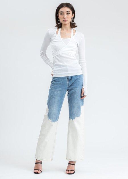 Helmut Lang Wrap Long Sleeve -  White