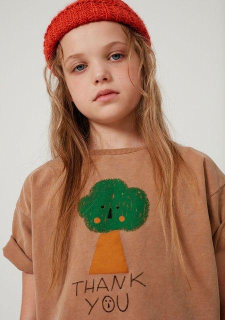Kids Weekend House Kids Tree Sweatshirt - Camel