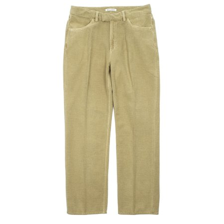 Our Legacy Formal Cut Brushed Cotton Pants - Khaki Green