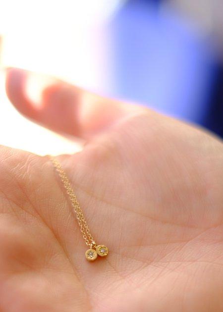 Gabriela Jewelry Orion Double Pendant Diamonds - 14K Gold