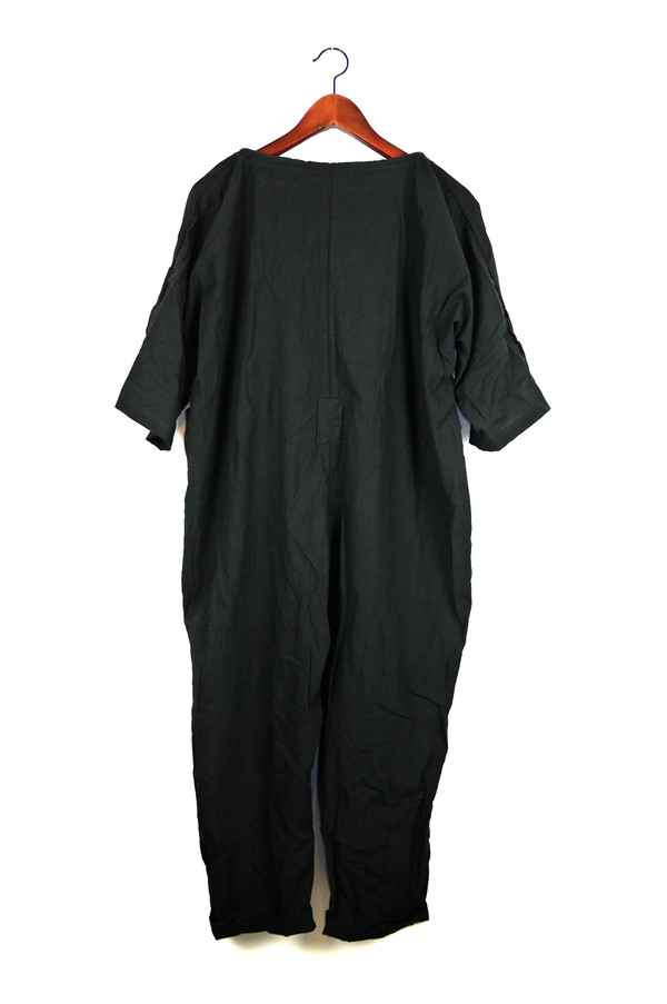 Uzi NYC Black Piped Jumpsuit