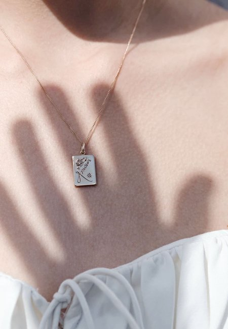Meadowlark Amour Necklace - silver/dark blue sapphire