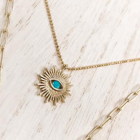 Made Community Sun + Moon Layering Necklace Set - Gold