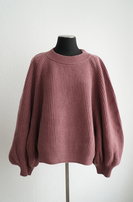 I love Mr Mittens Cashmere Balloon Jumper - Burgundy