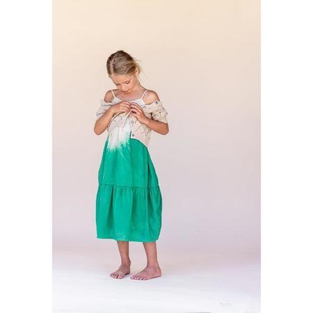 kids long live the queen dipdye dress - green