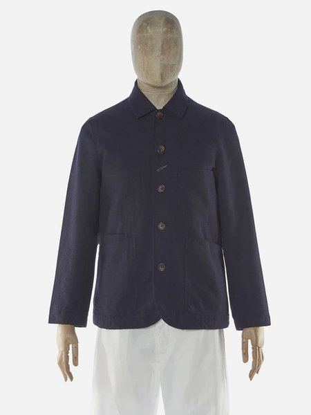 Universal Works Bakers Jacket - Navy Wool Marl