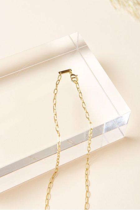 Machete Petite Oval Link Necklace - Gold