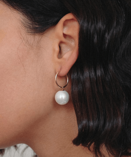 Luiny Lady's Pearl Hoops
