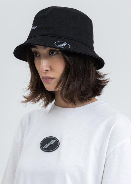 we11done WD Logo Stamp Bucket Hat - Black