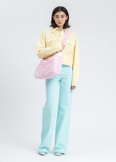 we11done Basic Short Denim Jacket - yellow