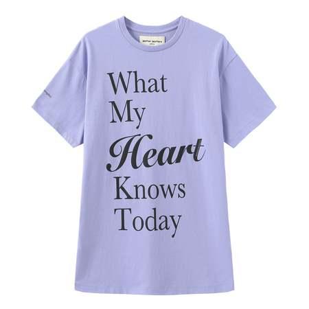 Unisex Matter Matters Oversized Long Tee with pockets - My Heart/Purple