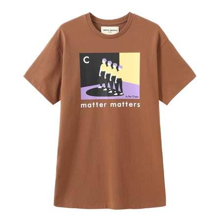 Matter Matters C Is For Copy T Shirt Dress - Brown