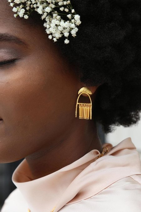 Lingua Nigra Shower of Faith Earrings - Gold