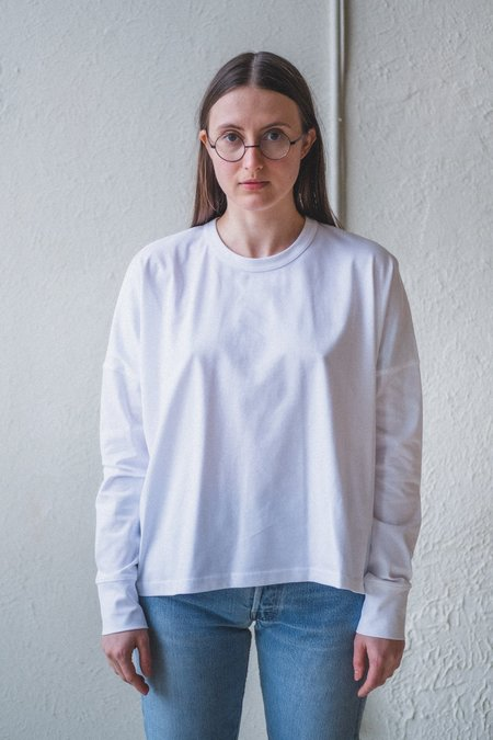 Studio Nicholson LOOP T-SHIRT - OPTIC WHITE MERCERIZED COTTON