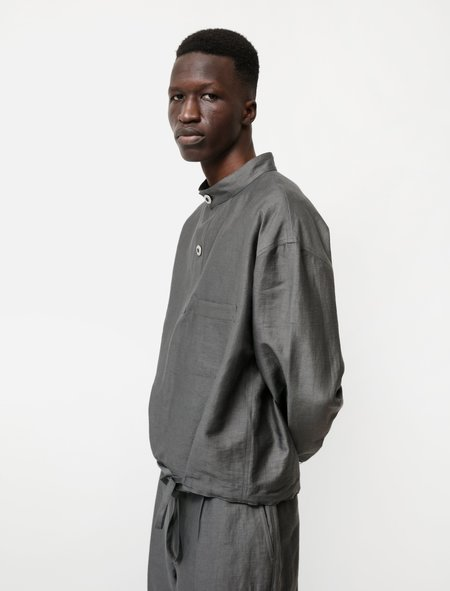 Lemaire Smock Top - Dark Stone
