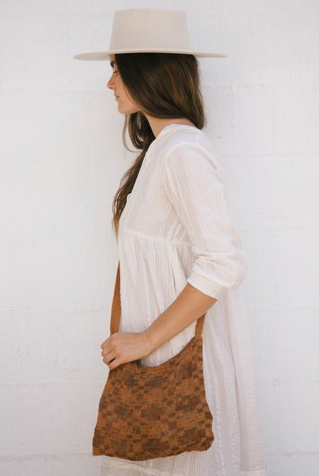 Pampa Litoral #0507 Woven Bag - Orange/Brown
