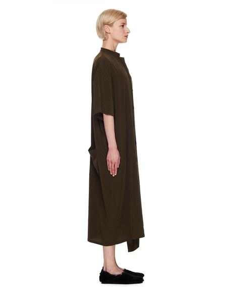 Y's Buttoned Dress - Khaki