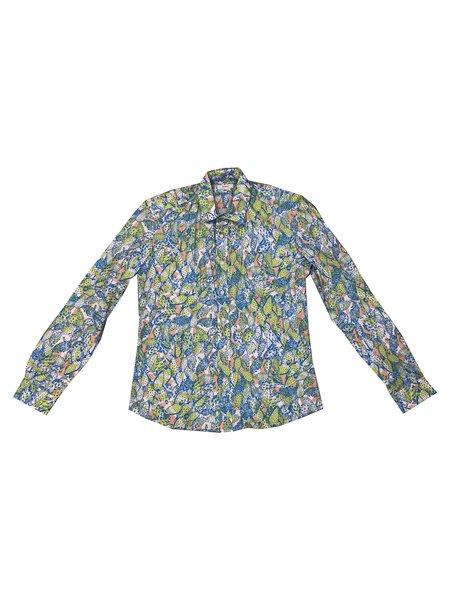 Kit Neale Cactus Como Shirt - Blue