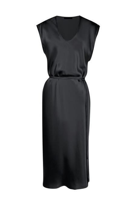 KES Cap Sleeve Slip Dress - Black