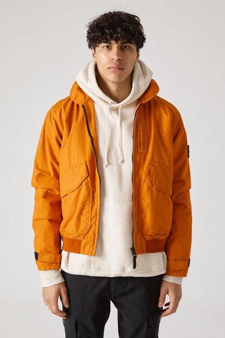 Stone Island Reflective Weave Ripstop Pilot Jacket - Orange