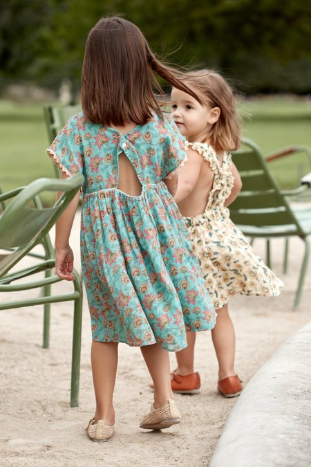 Kids Louise Misha Tapalpa Dress - Turquoise Flowers