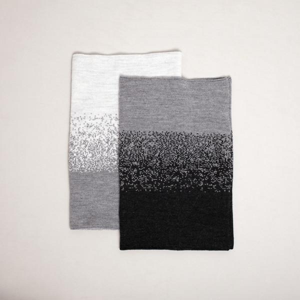 7115 by Szeki Gradient Ring Scarf - Beige + Gray FW16
