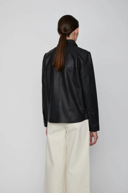 Just Female Joy Leather Shirt - black