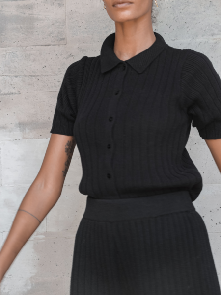 lu-ciee Gael knit shirt - Black