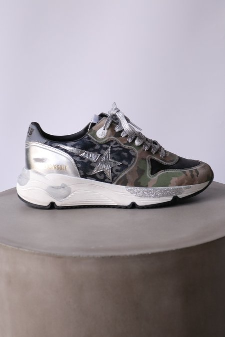 Golden Goose Running Sole mixed Shoes - Camouflage/Animal Print