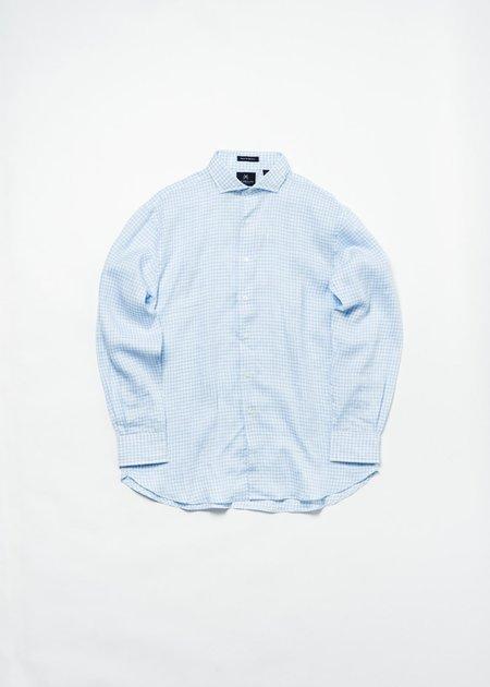 NEW ENGLAND BLUE/WHITE CHECK SHIRT