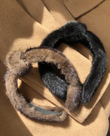 Linda Richards Mink Headband