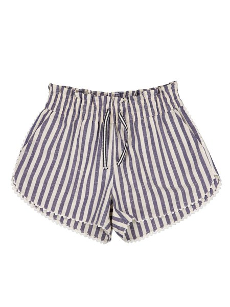 Kids Petite Lucette Colombe Shorts - Ocean Stripes