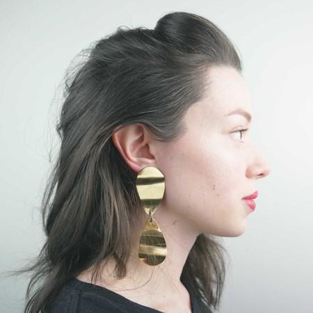 Seaworthy Cintura Earrings - Brass