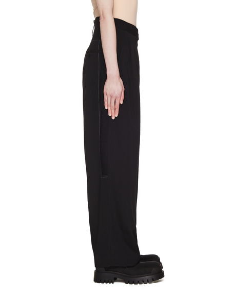 Y's Wool Pleated Trousers