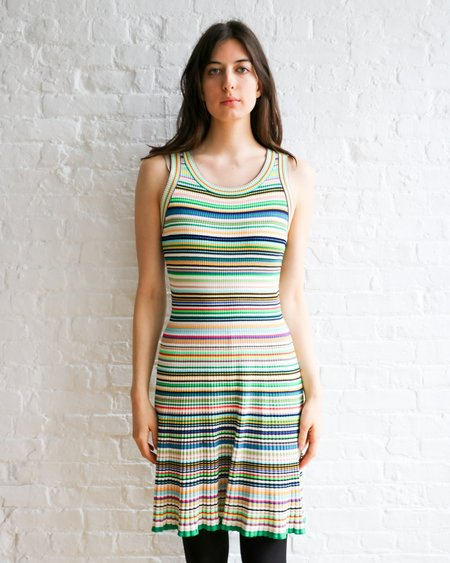 [Pre-loved] Milly Striped Knit Fit & Flare Dress - Multicolor