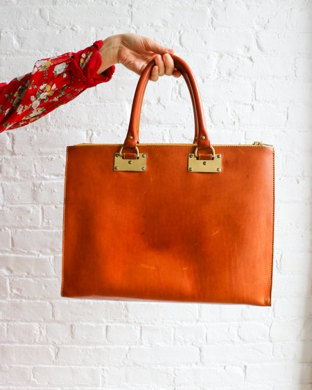 [pre-loved] Sophie Hulme Three Compartment Tote Bag - Butterscotch